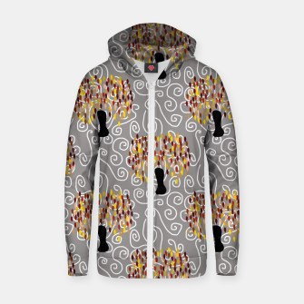 Fall Tree Pattern Zip up hoodie thumbnail image