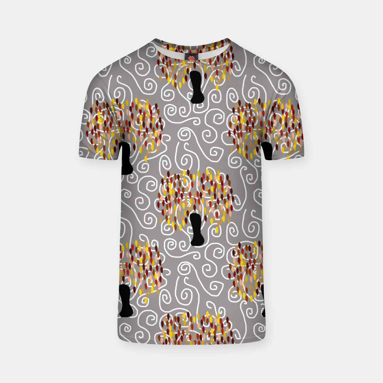 Image of Fall Tree Pattern T-shirt - Live Heroes