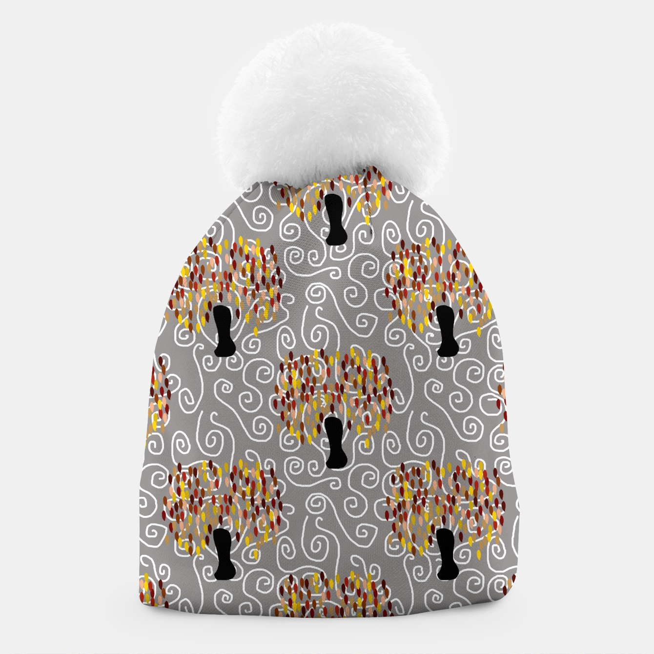 Image of Fall Tree Pattern Beanie - Live Heroes
