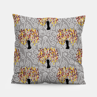 Fall Tree Pattern Pillow thumbnail image