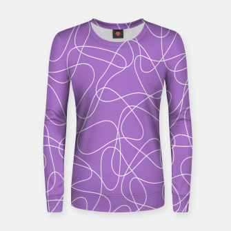 Thumbnail image of Abstract pattern - purple. Women sweater, Live Heroes