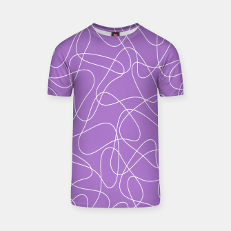 Imagen en miniatura de Abstract pattern - purple. T-shirt, Live Heroes