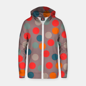 Thumbnail image of zappwaits - Pattern Zip up hoodie, Live Heroes