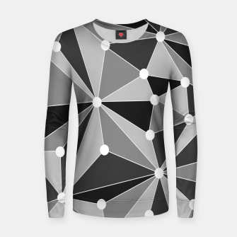 Thumbnail image of Abstract geometric pattern - gray, black and white. Women sweater, Live Heroes