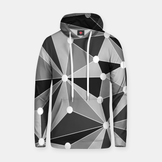 Miniature de image de Abstract geometric pattern - gray, black and white. Hoodie, Live Heroes