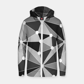 Miniatur Abstract geometric pattern - gray, black and white. Zip up hoodie, Live Heroes