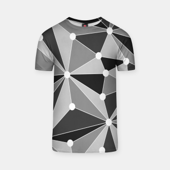 Imagen en miniatura de Abstract geometric pattern - gray, black and white. T-shirt, Live Heroes
