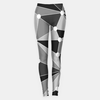Miniatur Abstract geometric pattern - gray, black and white. Leggings, Live Heroes