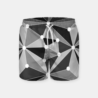 Miniatur Abstract geometric pattern - gray, black and white. Swim Shorts, Live Heroes
