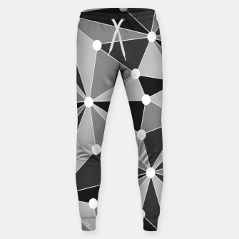 Miniatur Abstract geometric pattern - gray, black and white. Sweatpants, Live Heroes