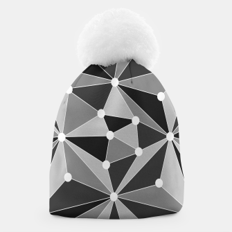 Miniatur Abstract geometric pattern - gray, black and white. Beanie, Live Heroes