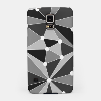 Miniatur Abstract geometric pattern - gray, black and white. Samsung Case, Live Heroes