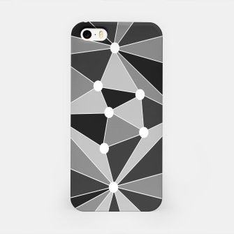 Miniature de image de Abstract geometric pattern - gray, black and white. iPhone Case, Live Heroes