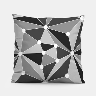 Miniature de image de Abstract geometric pattern - gray, black and white. Pillow, Live Heroes