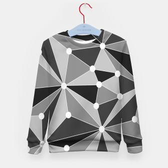 Miniatur Abstract geometric pattern - gray, black and white. Kid's sweater, Live Heroes