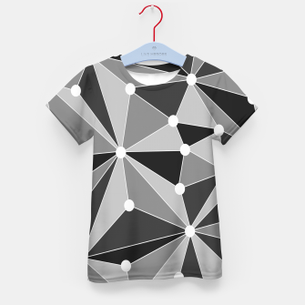 Miniatur Abstract geometric pattern - gray, black and white. Kid's t-shirt, Live Heroes