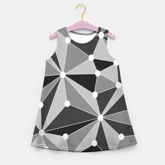 Miniaturka Abstract geometric pattern - gray, black and white. Girl's summer dress, Live Heroes