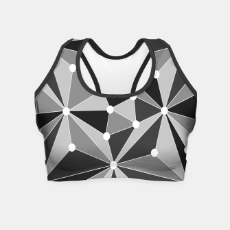 Miniature de image de Abstract geometric pattern - gray, black and white. Crop Top, Live Heroes