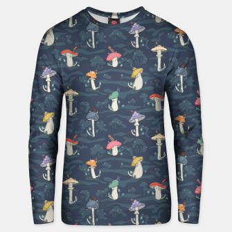 Thumbnail image of Forest ball of the mushroom cats Unisex sweater, Live Heroes