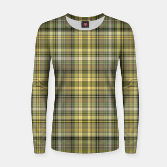Thumbnail image of yellow plaid Women sweater, Live Heroes