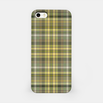Thumbnail image of yellow plaid iPhone Case, Live Heroes