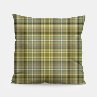 Miniature de image de yellow plaid Pillow, Live Heroes