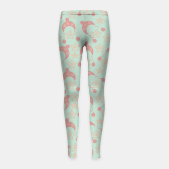 Thumbnail image of mauve winter hat Girl's leggings, Live Heroes
