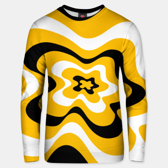 Thumbnail image of Abstract pattern - orange, black and white. Unisex sweater, Live Heroes