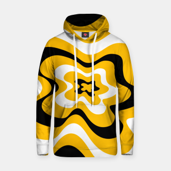 Thumbnail image of Abstract pattern - orange, black and white. Hoodie, Live Heroes