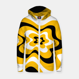 Thumbnail image of Abstract pattern - orange, black and white. Zip up hoodie, Live Heroes