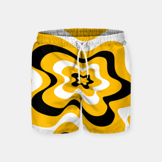 Thumbnail image of Abstract pattern - orange, black and white. Swim Shorts, Live Heroes