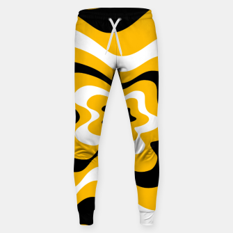 Thumbnail image of Abstract pattern - orange, black and white. Sweatpants, Live Heroes