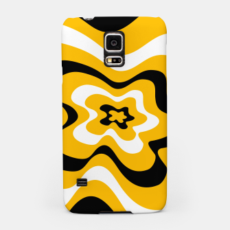 Thumbnail image of Abstract pattern - orange, black and white. Samsung Case, Live Heroes