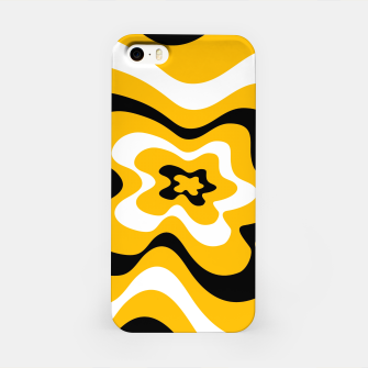 Thumbnail image of Abstract pattern - orange, black and white. iPhone Case, Live Heroes