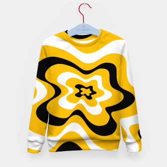Thumbnail image of Abstract pattern - orange, black and white. Kid's sweater, Live Heroes