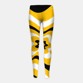 Thumbnail image of Abstract pattern - orange, black and white. Girl's leggings, Live Heroes