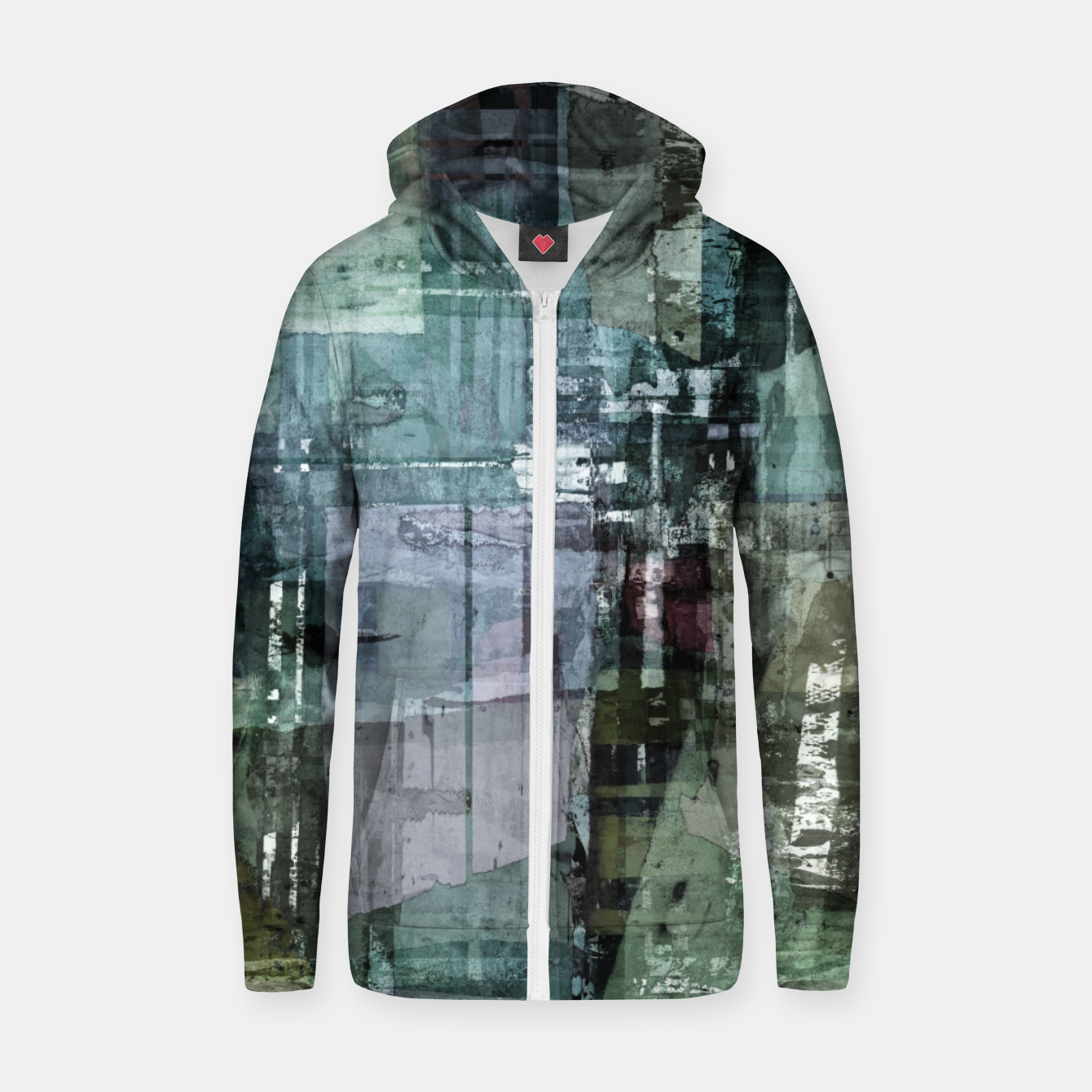 Image of The old house Zip up hoodie - Live Heroes