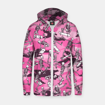 Thumbnail image of Grim Ripper Skater Camo PINK Zip up hoodie, Live Heroes