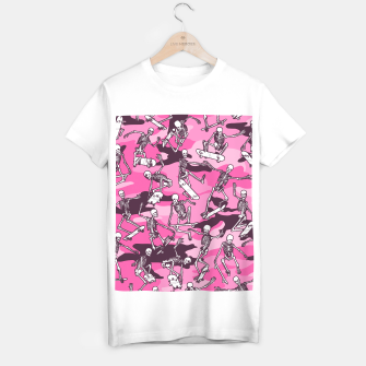 Thumbnail image of Grim Ripper Skater Camo PINK T-shirt regular, Live Heroes