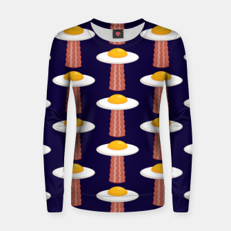 Thumbnail image of Eggstraterrestrial Pattern Women sweater, Live Heroes
