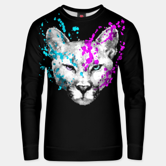 Imagen en miniatura de Watercolor watercolour cougar mountain lion animal wildlife Unisex sweater, Live Heroes