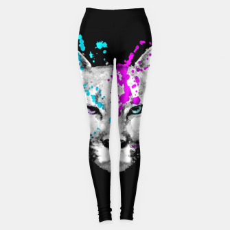 Imagen en miniatura de Watercolor watercolour cougar mountain lion animal wildlife Leggings, Live Heroes