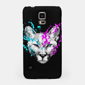 Imagen en miniatura de Watercolor watercolour cougar mountain lion animal wildlife Samsung Case, Live Heroes