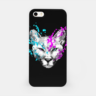 Imagen en miniatura de Watercolor watercolour cougar mountain lion animal wildlife iPhone Case, Live Heroes