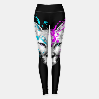 Miniaturka Watercolor watercolour cougar mountain lion animal wildlife Leggings, Live Heroes