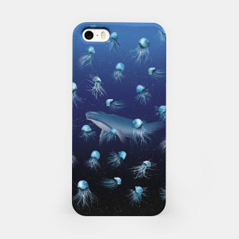 Miniatur Jellyfish pattern iPhone Case, Live Heroes