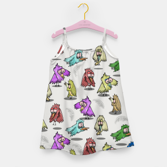 Miniatur Cute Bird Pattern Girl's dress, Live Heroes