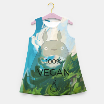 Miniaturka vegan Girl's summer dress, Live Heroes
