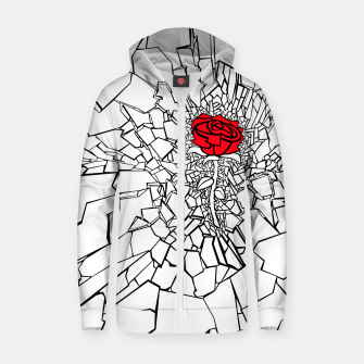 Thumbnail image of The Shattered Rose II Zip up hoodie, Live Heroes