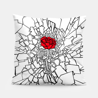 Thumbnail image of The Shattered Rose II Pillow, Live Heroes